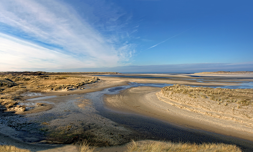 Landschap Texel De Slufter in de winter